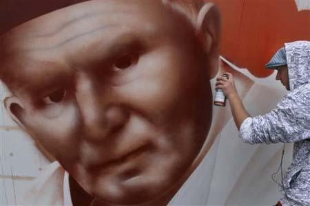 POLAND POPE GRAFFITI